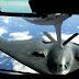 USAF B-2 Spirit Bomber Rfueling From KC-135 Stratotanker Aircraft