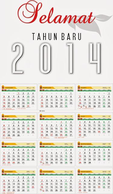 kalender 2014 + tanggalan hijriah + tanggalan jawa