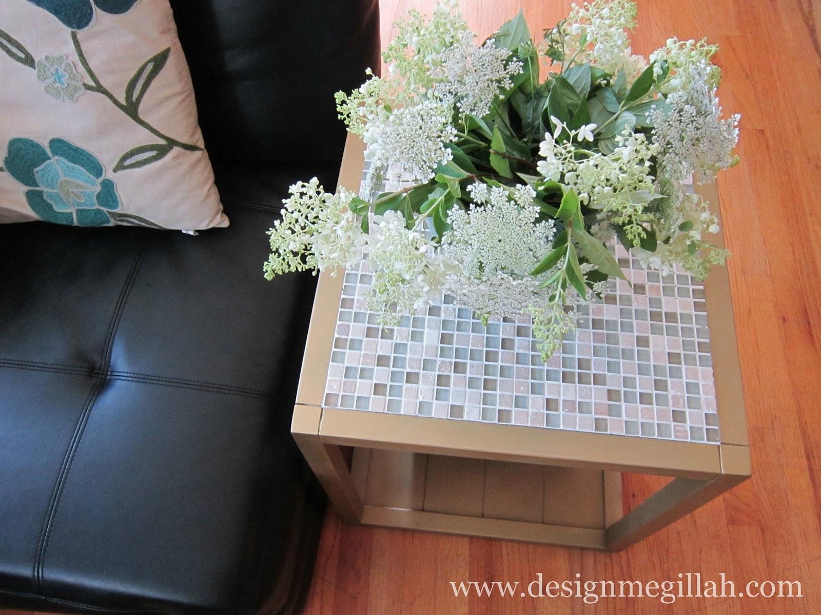 Cute Tiled End Table Makeover u Guest Post by Design Megillah
