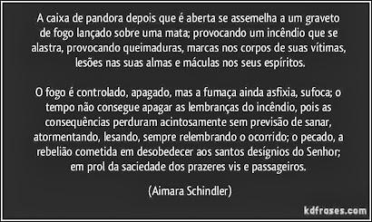 A CAIXA DE PANDORA DEPOIS QUE É ABERTA