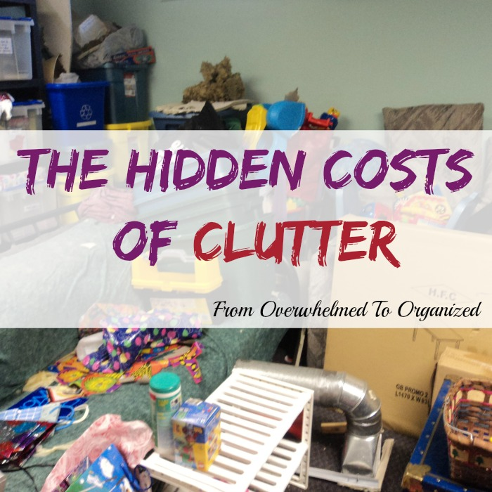 There are several ways that having clutter in your home costs you - financially, non-financially, and when you're moving.  This posts shares some of these hidden costs of clutter and offers tips and support to help you start decluttering.