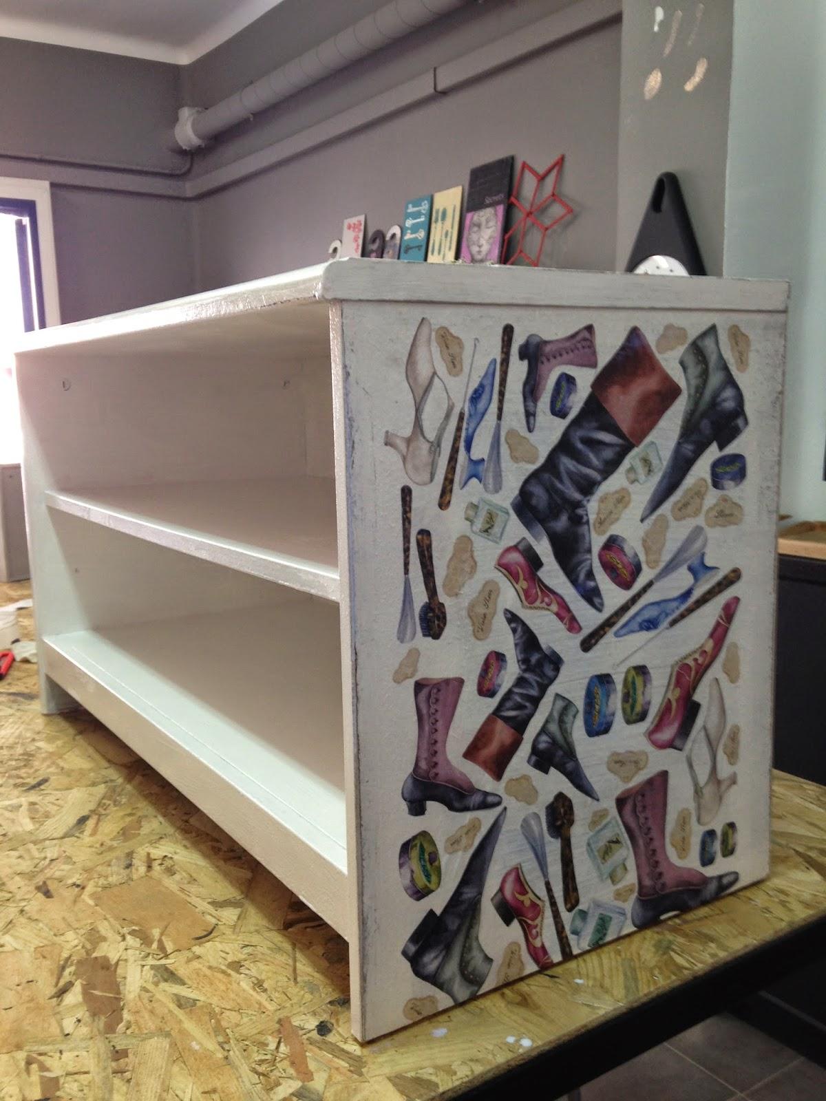 Actualizar un zapatero pasado de moda con pintura chalkpaint y decoupage