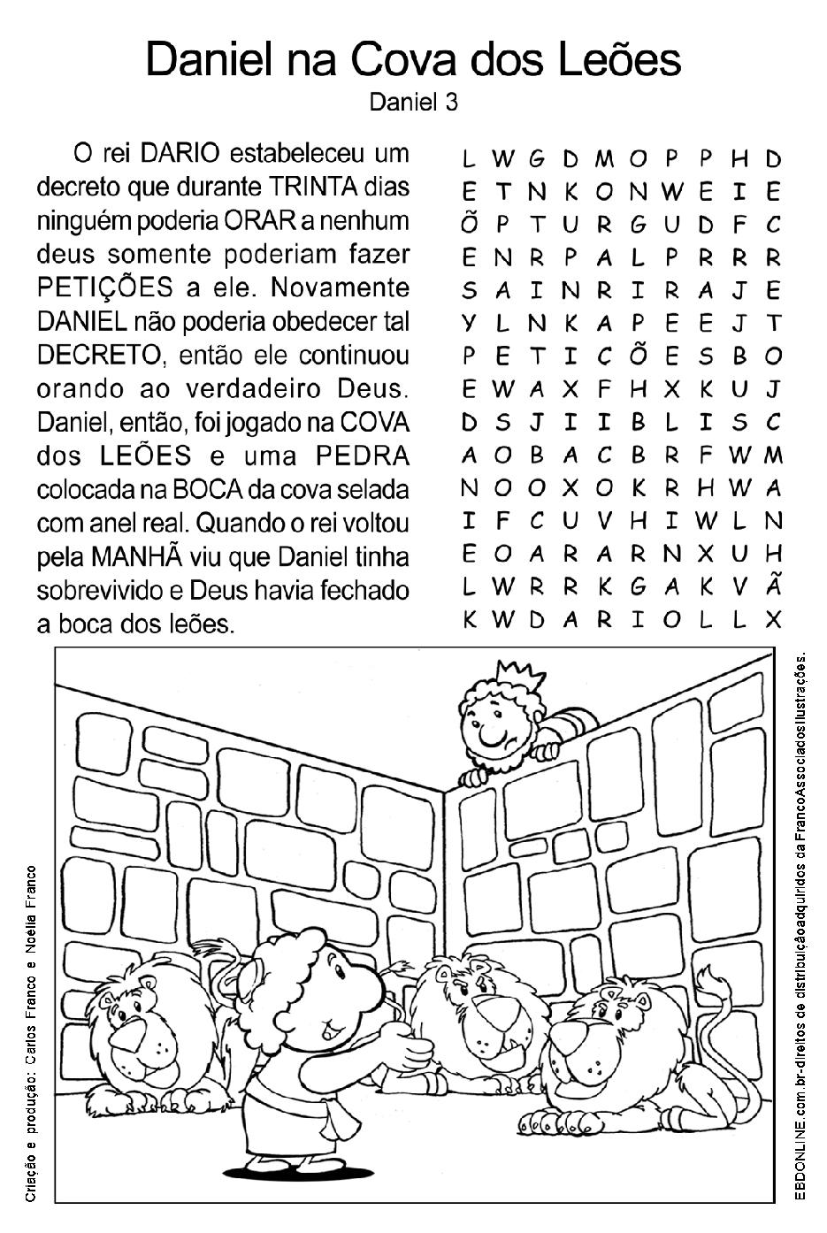 Amado Histórias Biblícas: ATIVIDADES BIBLICAS - DANIEL XG59