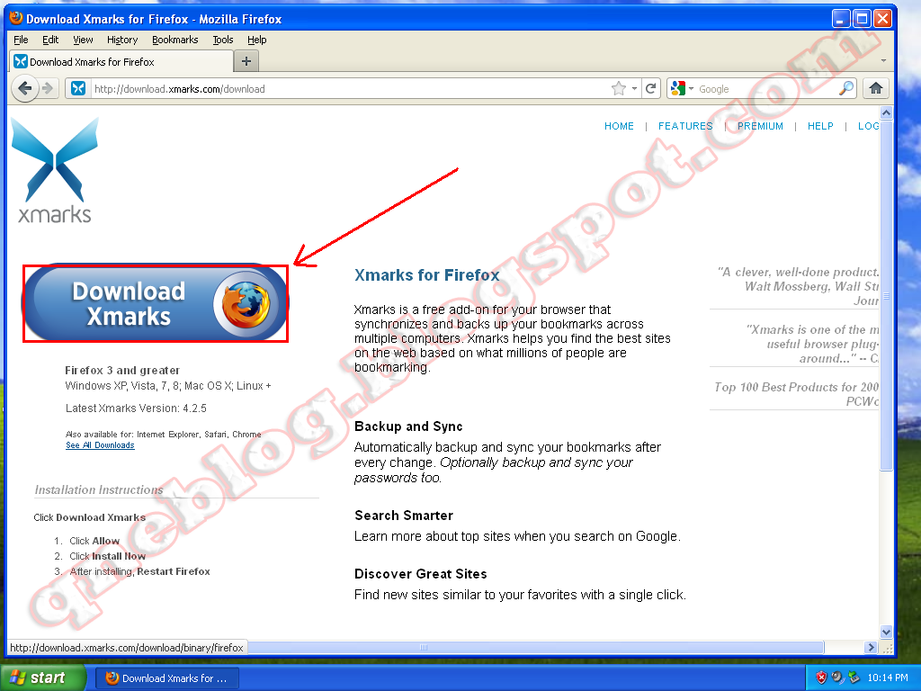 Backup Your Firefox Bookmarks Online