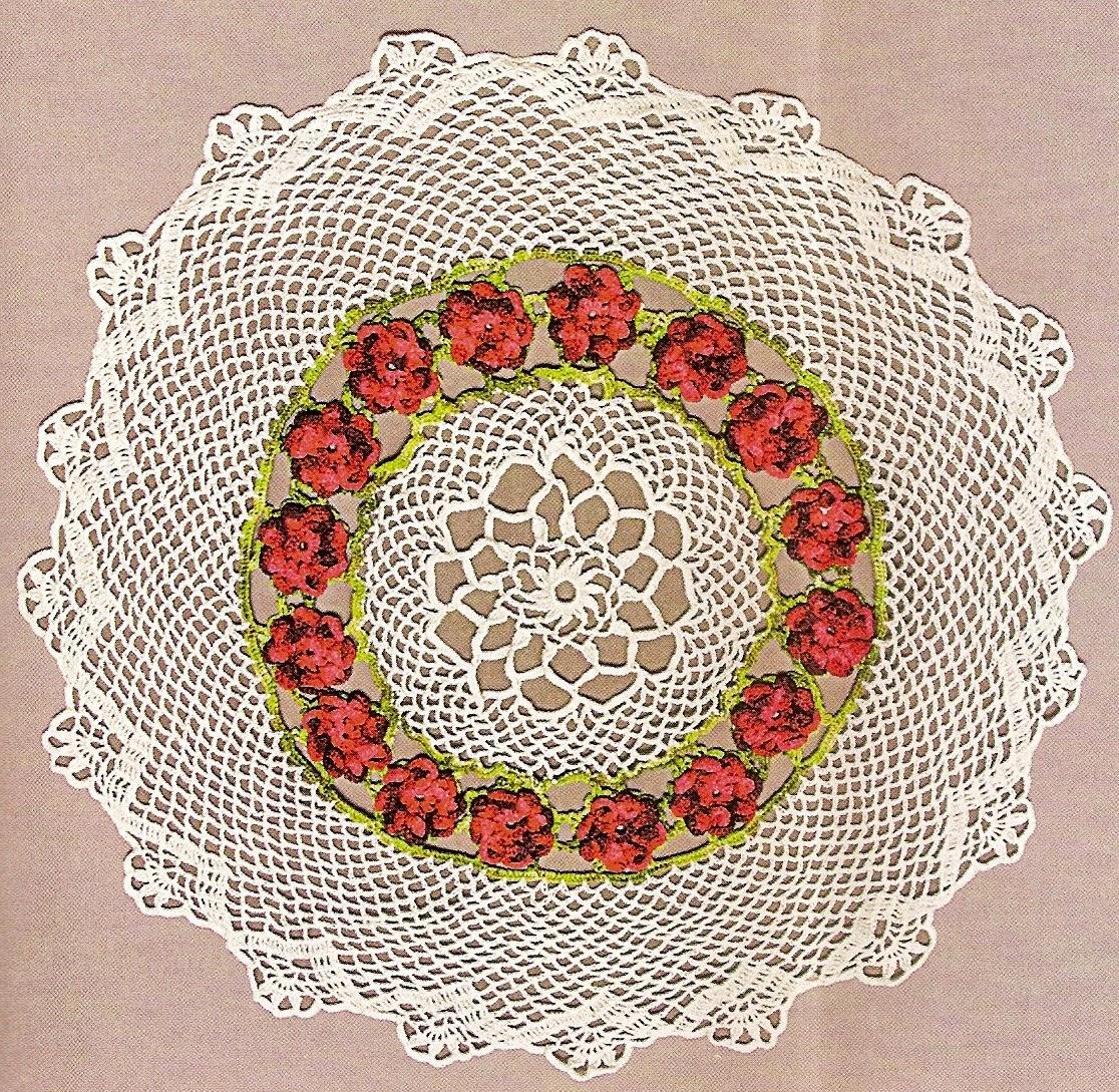 croche com receita toalhas flores aprender croche dvd loja curso
