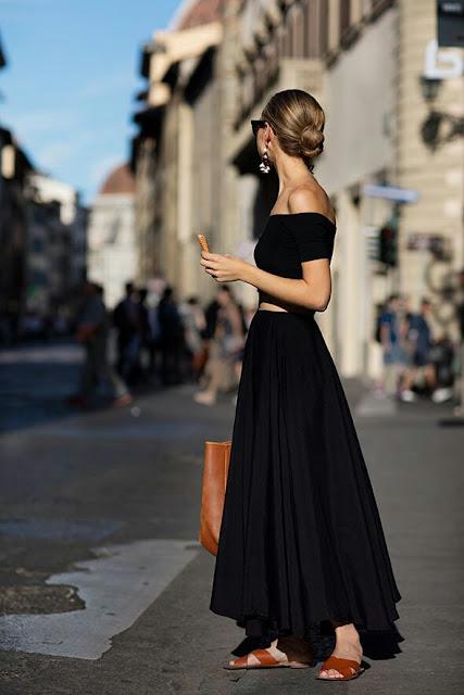 Longo vestido preto