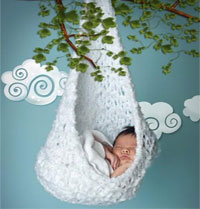 NEWBORN HAMMOCK CROCHET PATTERN ? Free Crochet Patterns