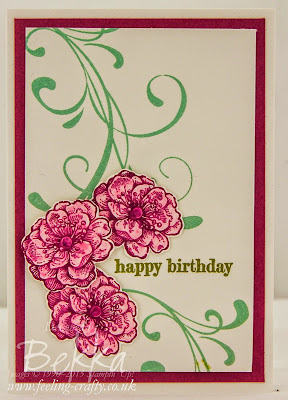 Pretty Birthday Card Using The Everything Eleanor Stamp Set From Stampin' Up! UK - Get it Here