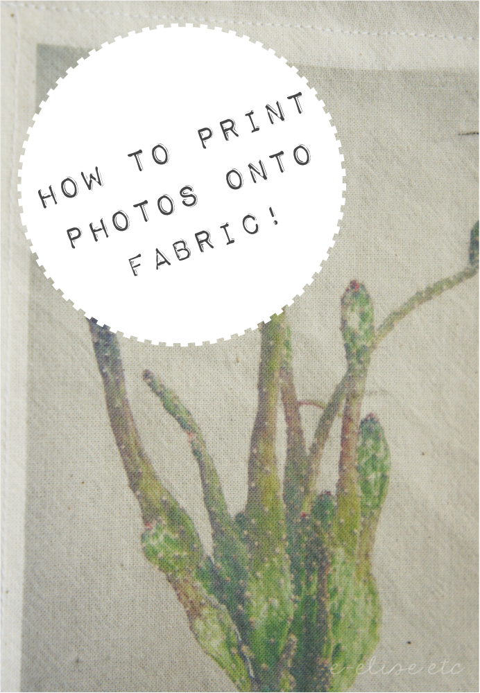 how to print photos directly onto fabric
