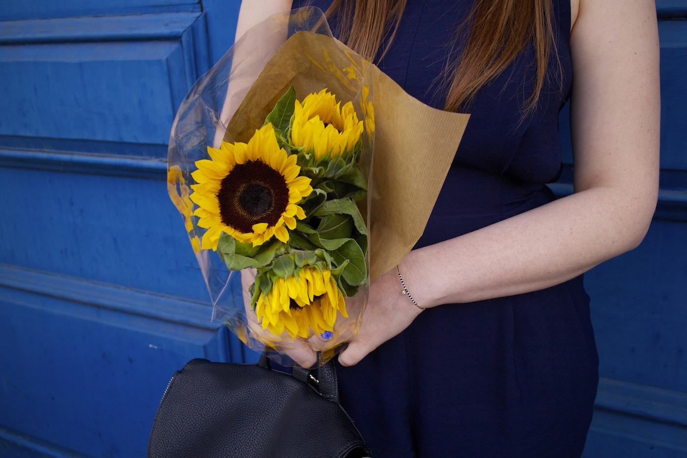 london blogger style pretty posh oh my gosh sunflowers