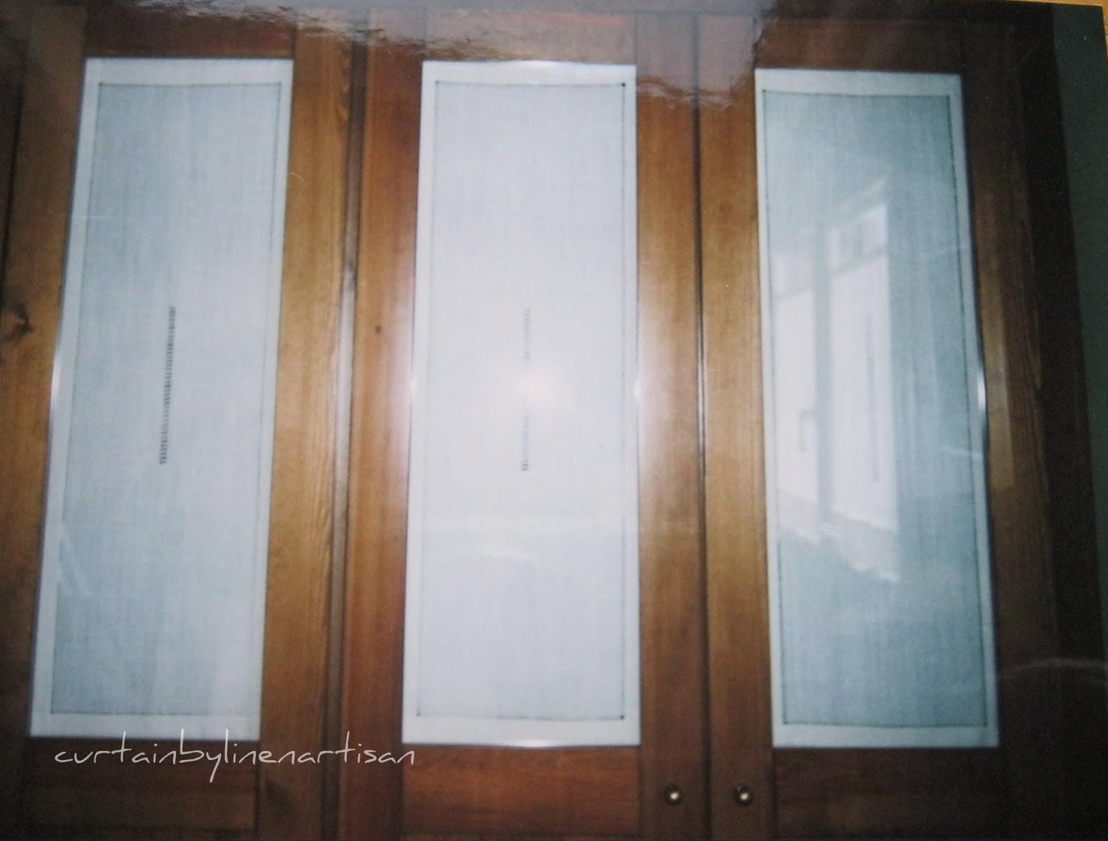 Linge ancien visillos con vainicas tamizar la luz for Cortinas para puertas de armarios