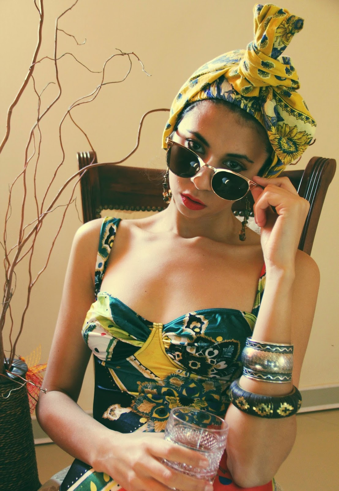 THE LOOK | VINTAGE AFRICAN PRINT | ANDREEA MIRON