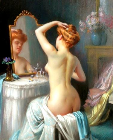 Poemas de Amor  - Página 15 Delphin-enjolras-desnuda-frente-a-un-espejo-eros-arte-boveri