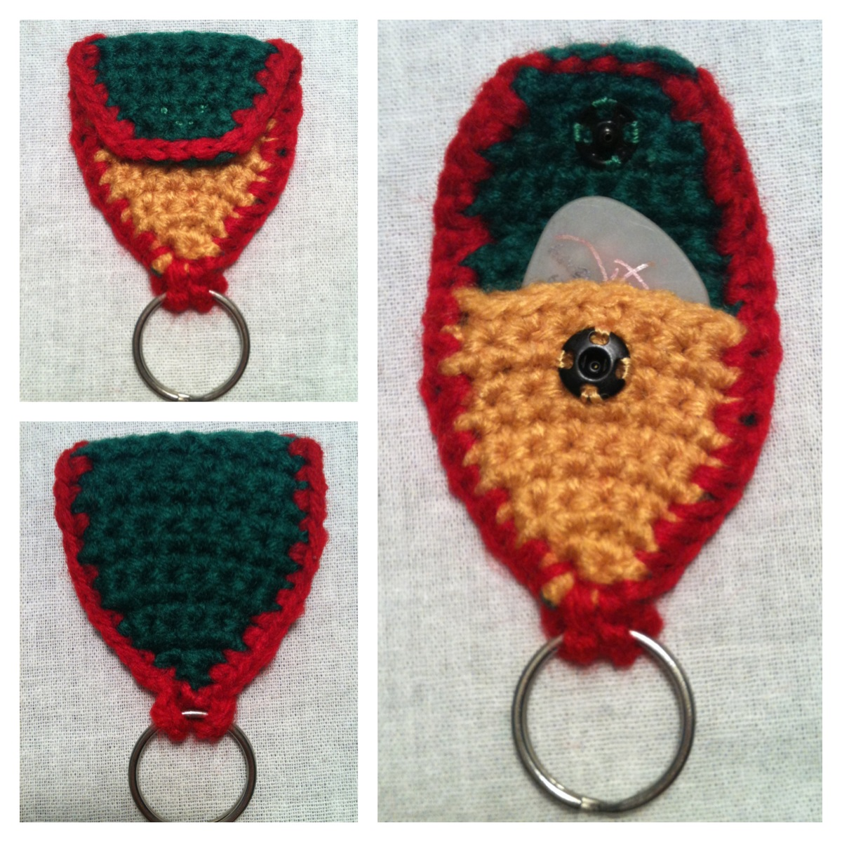 Crochet Patterns Keychain : free crochet pattern guitar pick holder keychain well today is the day ...