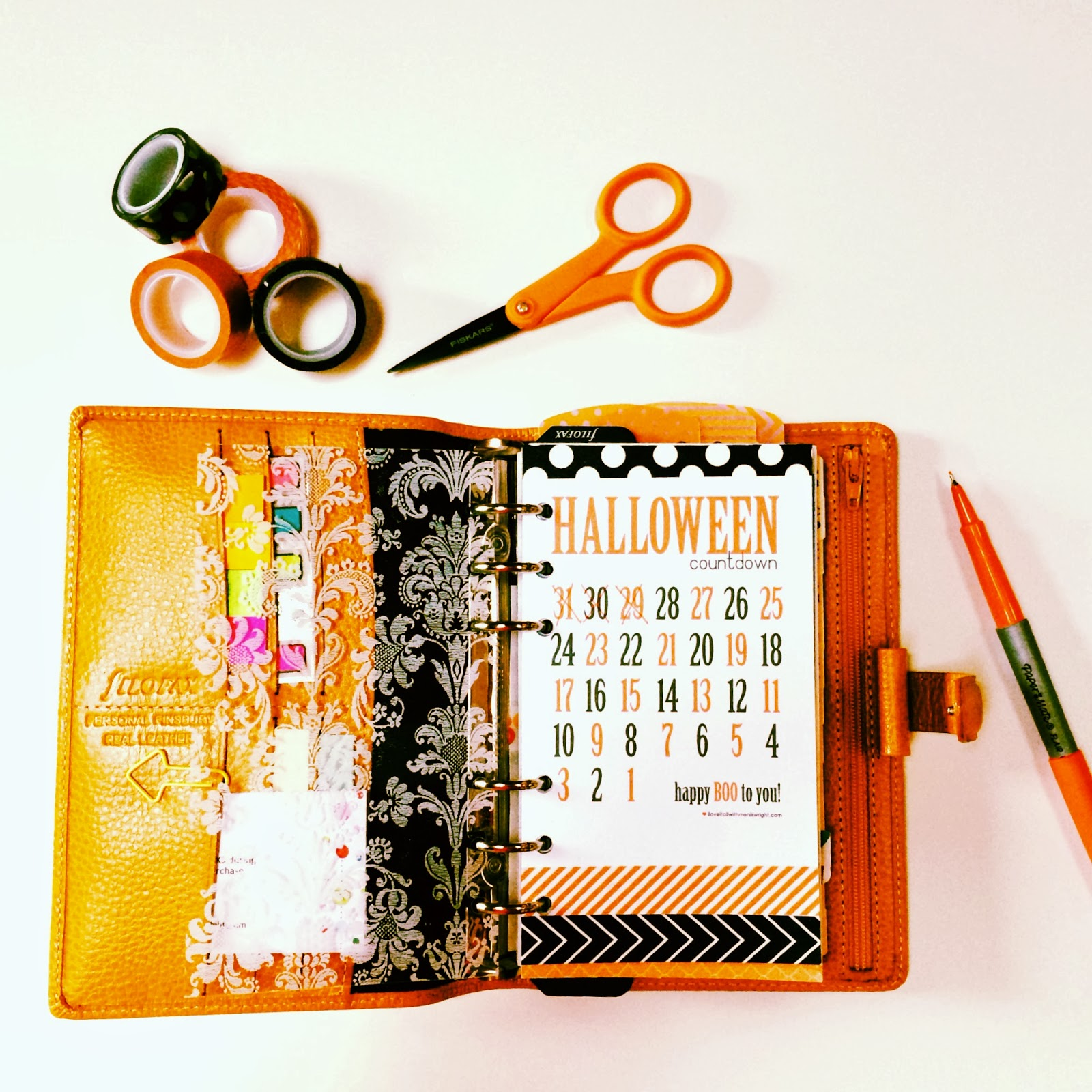 Filofax Friday | Halloween Countdown Download | iloveitallwithmonikawright.com