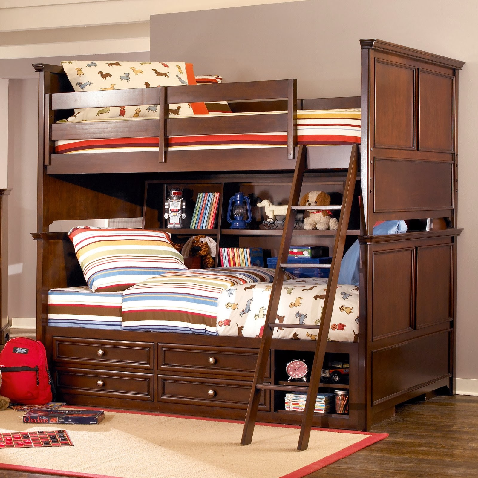 cool kids bedroom space saving ideas loft bed and bunk