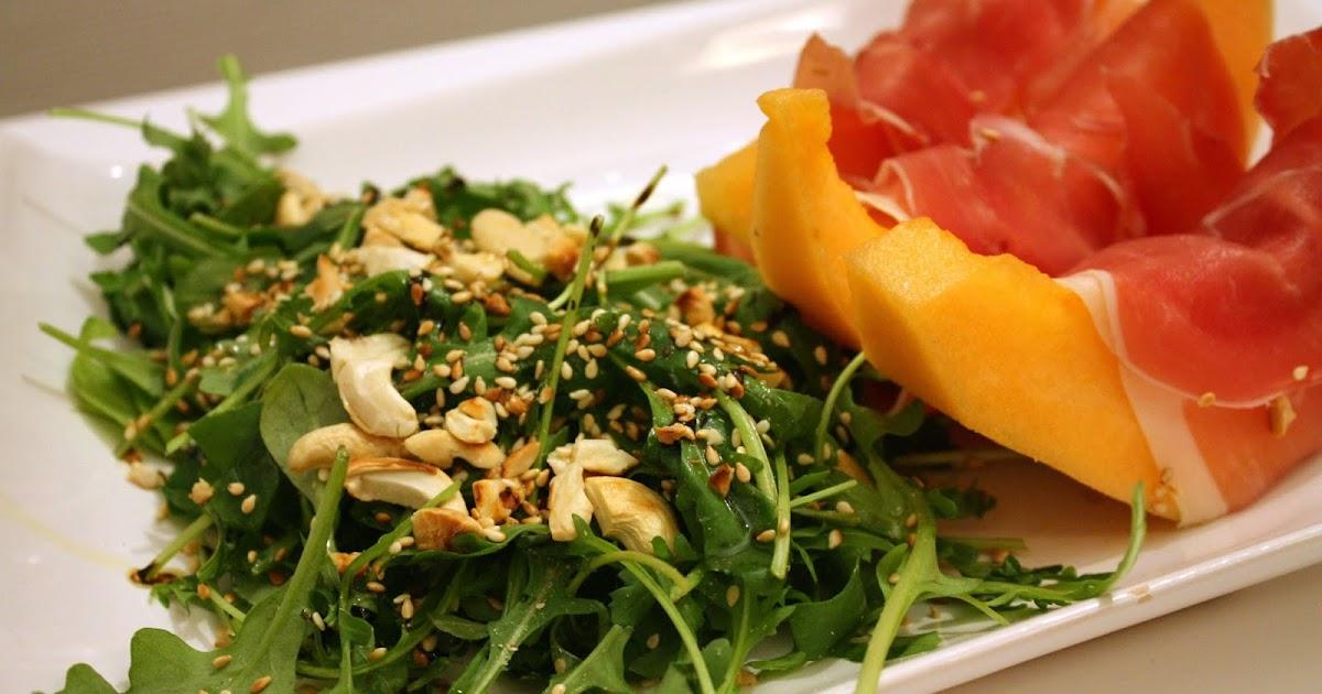 Nidocooking salade croustillante et melon au jambon de parme - Comment faire murir un melon ...