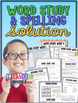 http://www.teacherspayteachers.com/Product/Word-Study-and-Spelling-Solution-1313386