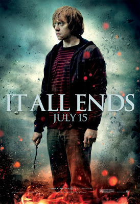 "Harry Potter and the Deathly Hallows Part 2 ""It All Ends"" Character Movie Poster Set - Rupert Grint as Ron Weasley"