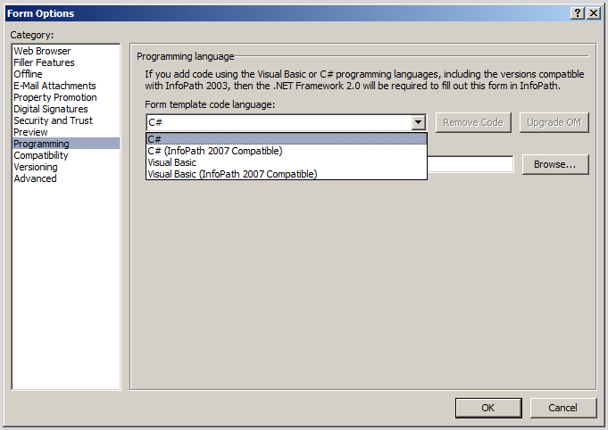 populating infopath drop down list box with sharepoint