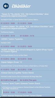 Anadolu Üniversitesi Android Uygulaması Etkinlikler