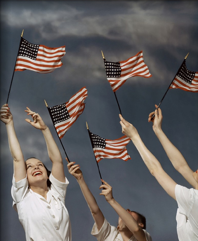 Glamour July 1942 American Flags