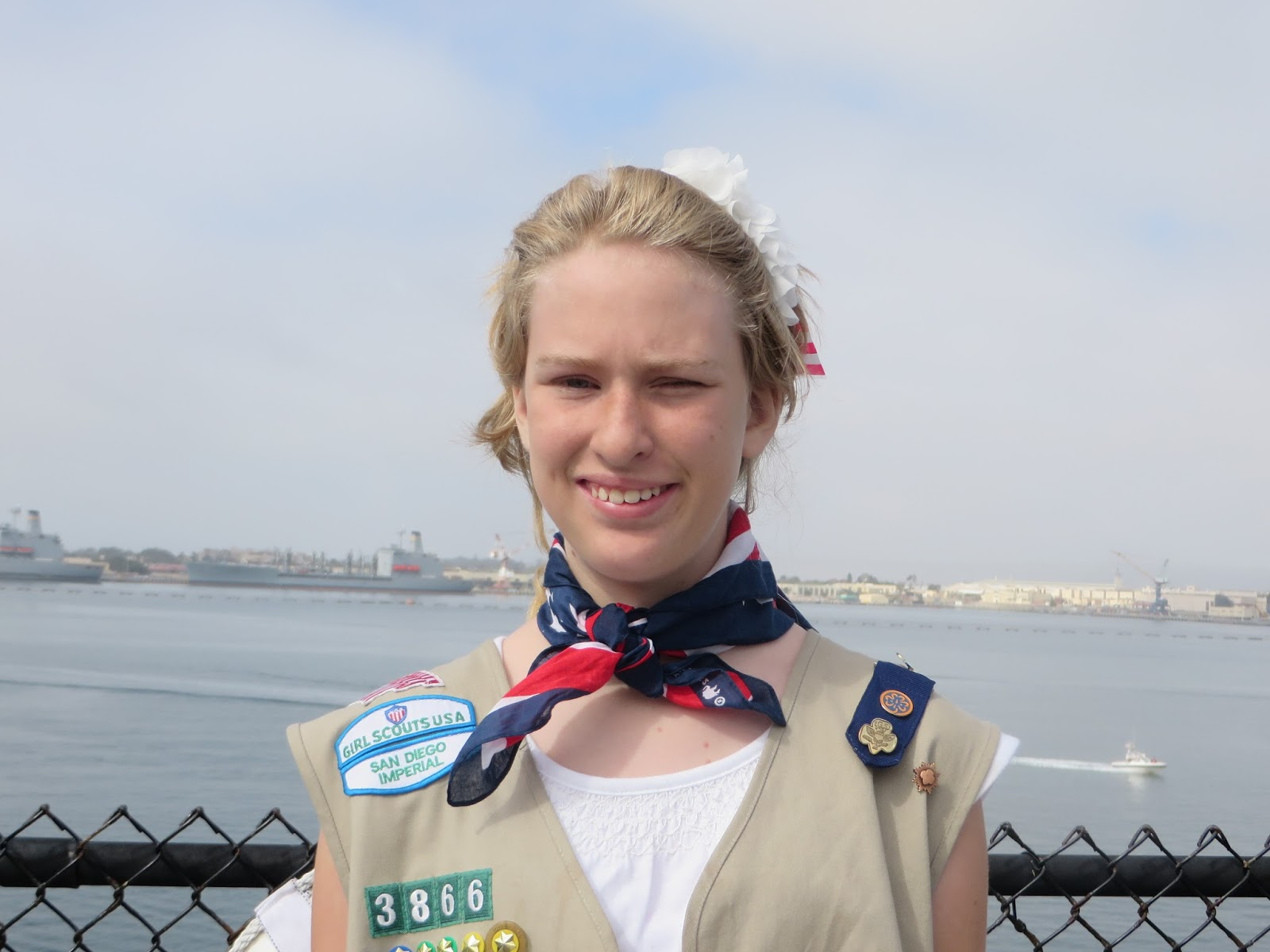 clairemont news clairemont girl scout helps make