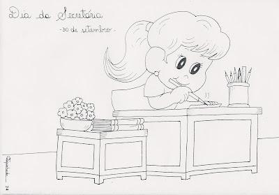 Desenhos Dia da Secretária para Colorir