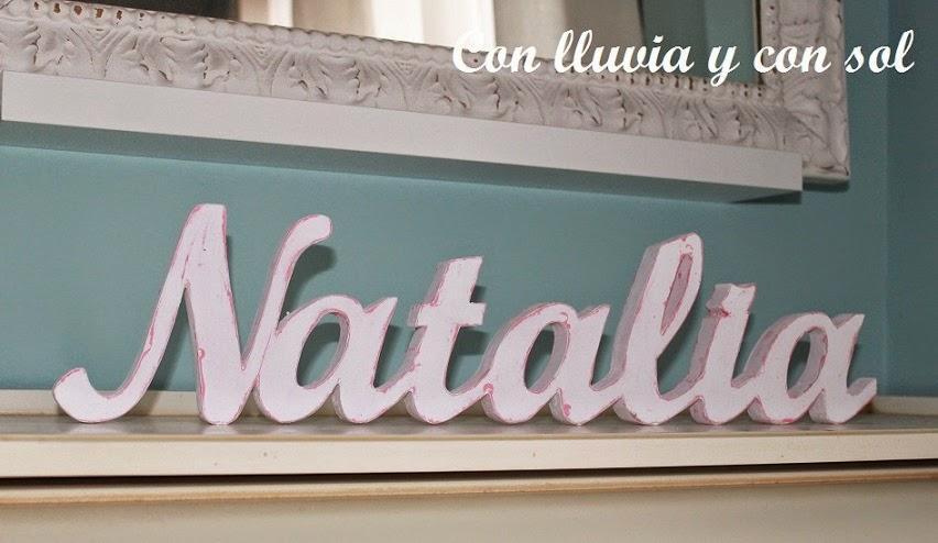 Con lluvia y con sol letras de madera para candy bar - Letras de nombres para decorar ...