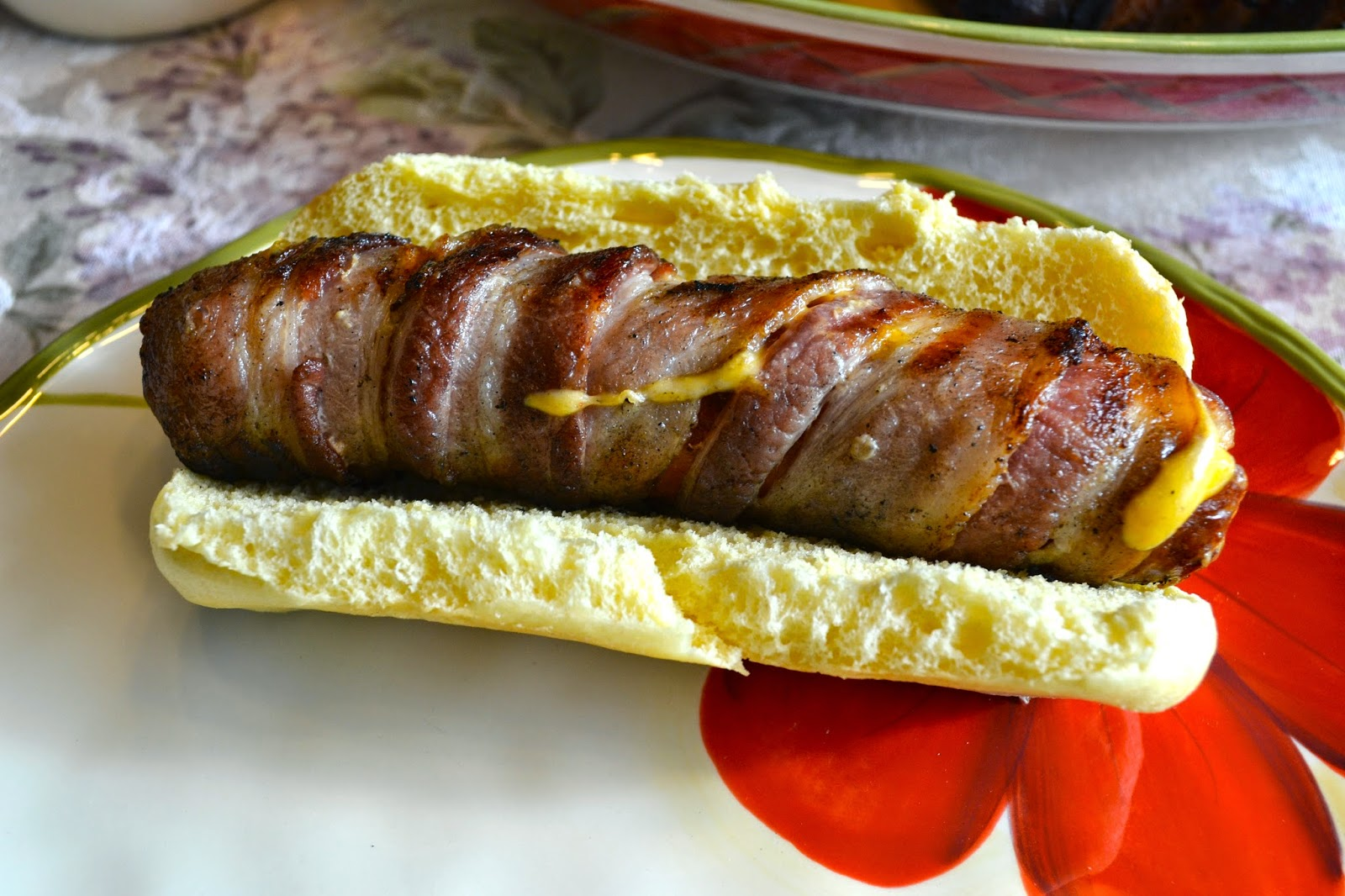 Grilled Bacon-Wrapped Stuffed Hot Dogs Recipe — Dishmaps