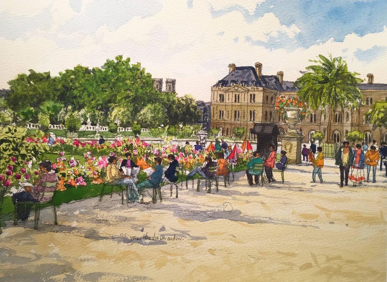 Jean Charles Decoudun Jardin du Luxembourg