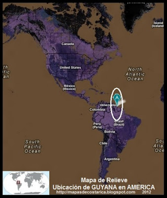 Ubicación de GUYANA en AMERICA