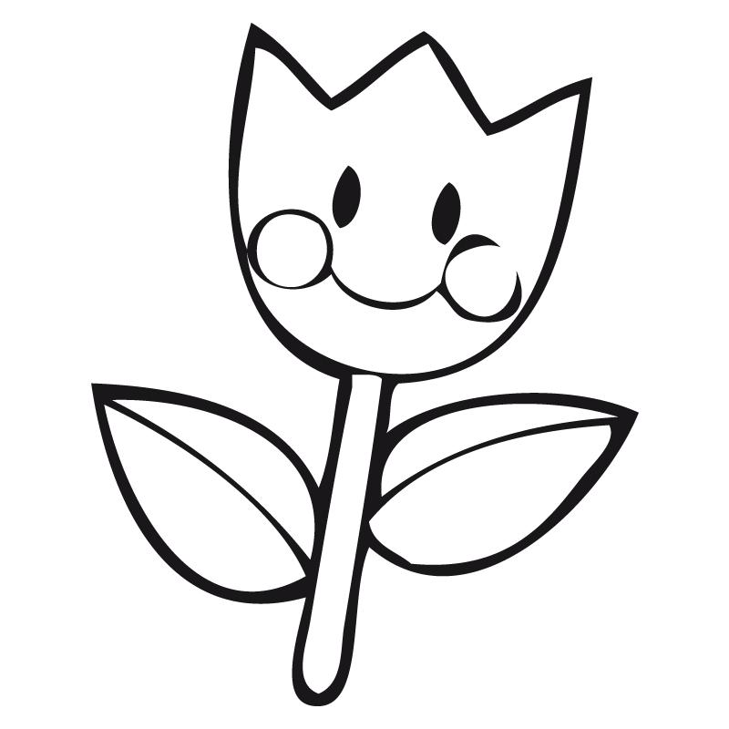 Desenhos e riscos de tulipas. Tulipas para colorir.