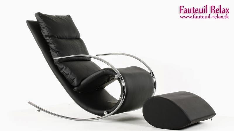 Fauteuil relax beverly noir fauteuil relax - Fauteuil relax a bascule ...