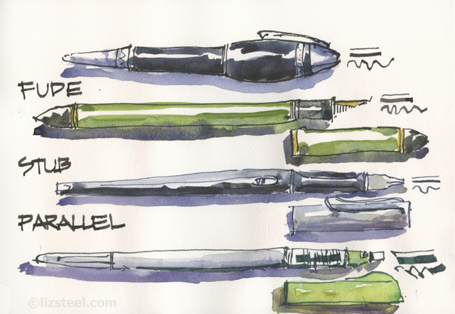 Fountain Pen Sketching Part 7 Pens With Variable Lines 2