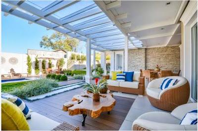 Mẫu sân vườn đẹp với không gian thư giãn xanh tươi