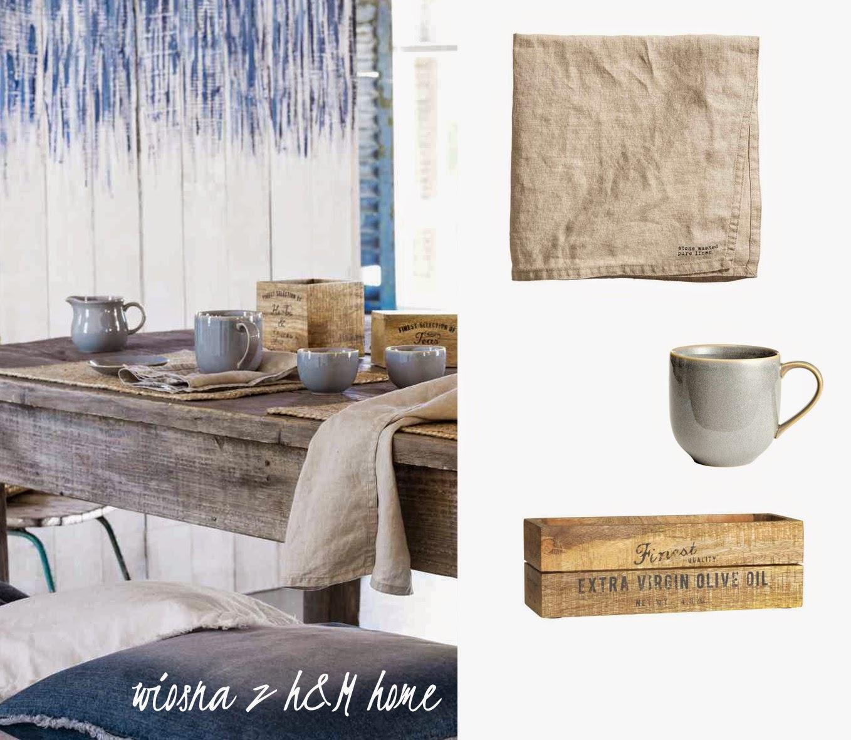 Dacon-Design-wnetrza-HM-Home-wiosna-len-jadalnia-niebieska porcelana