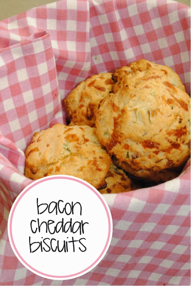 Sequins and Pearls: Bacon Cheddar Drop Biscuits
