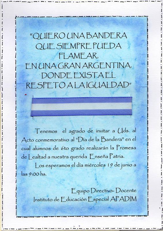 Tarjetas De Invitacion Para El Dia De La Bandera