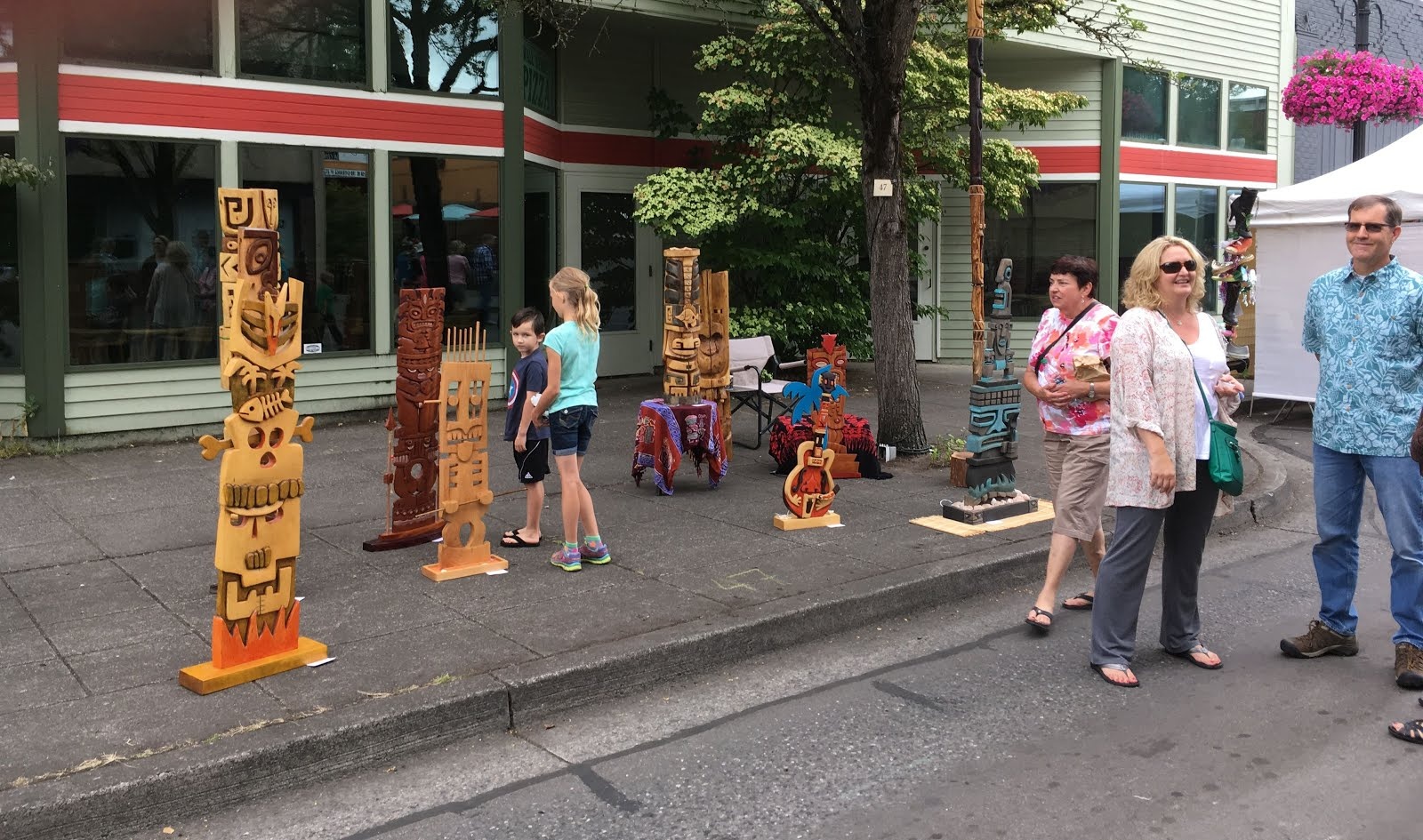 On Saturday I did the local once a year Art Walk.