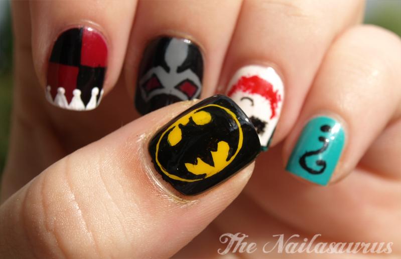 Just Like The Movies Batman Nail Art The Nailasaurus Uk Nail