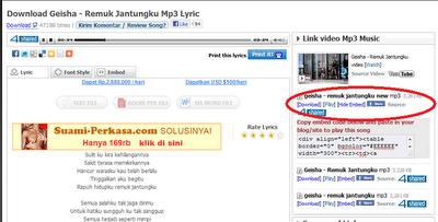 Cara menyispkan Lagu MP3 Di Blog