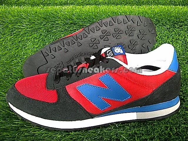 sepatu nb 430 red black blue