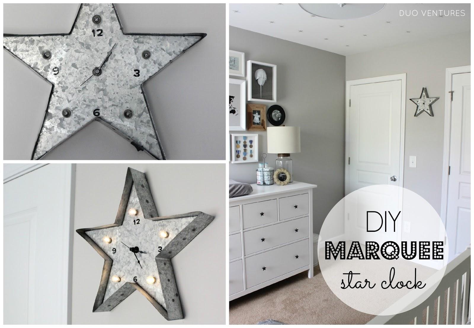 The Nursery Diy Marquee Star Clock