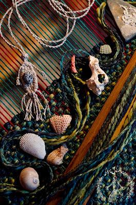 """Collana in lino creazioni ArJànas """"L'abbraccio del mare"""""""
