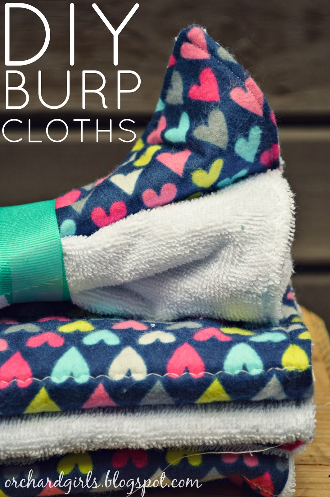 Easy DIY Burp Cloths