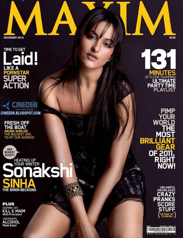Sonakshi Sinha on Maxim Magazine December 2010