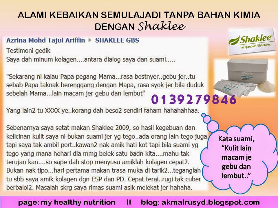 testimoni Shaklee Collagen powder