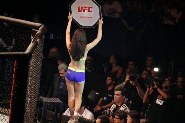 Aline Franzoi, ring girl do UFC no Brasil