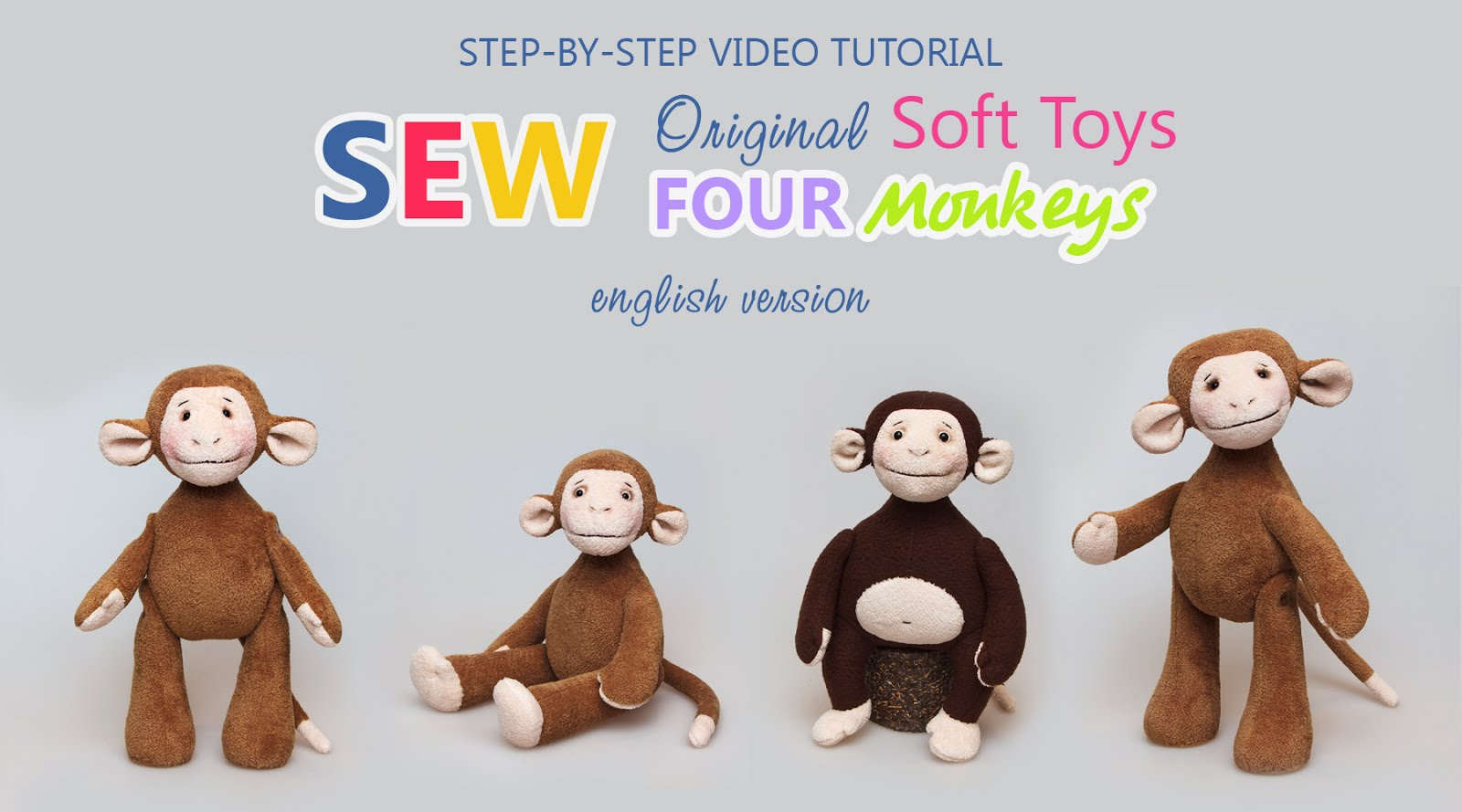 "Patterns & Tutorial ""Sew 4 Monkeys"""
